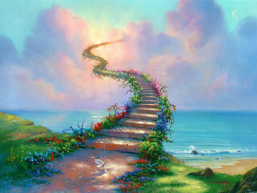 stairs to heaven illustration